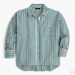 J.CREW Oversized Button Up Cotton Poplin Trifecta
